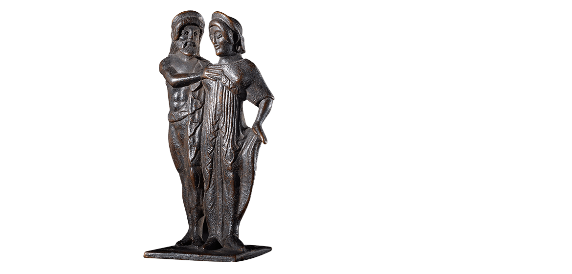 Votive statuette of a man embracing a woman